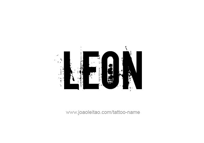Tattoo Design  Name Leon