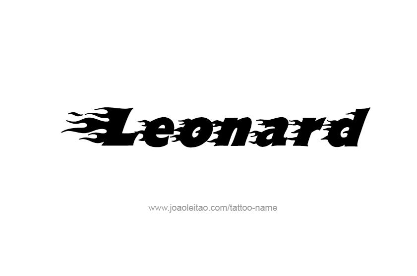Tattoo Design  Name Leonard