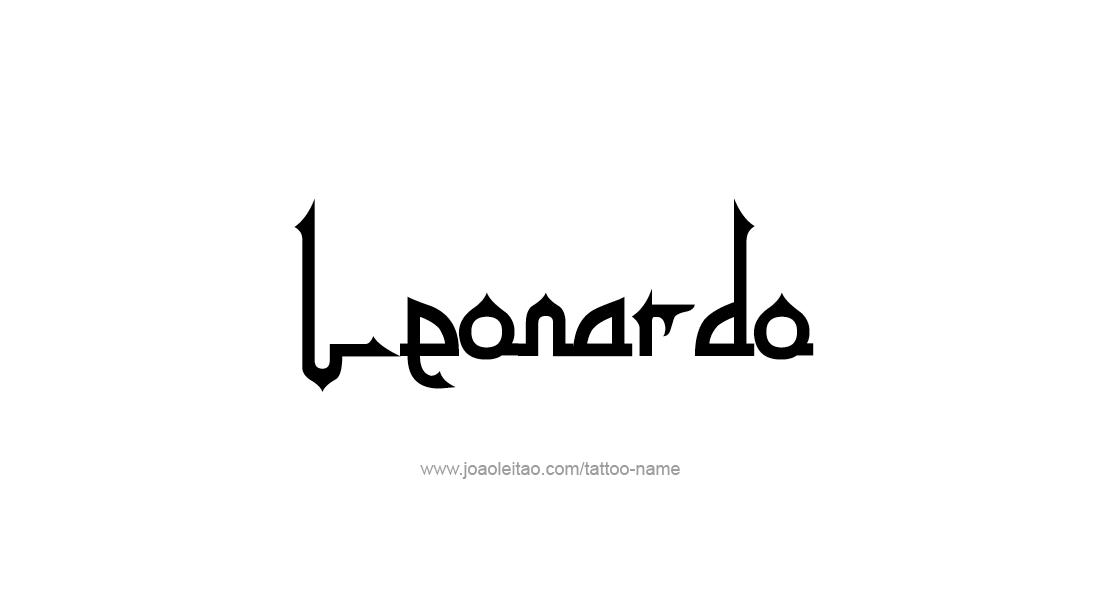 Tattoo Design  Name Leonardo
