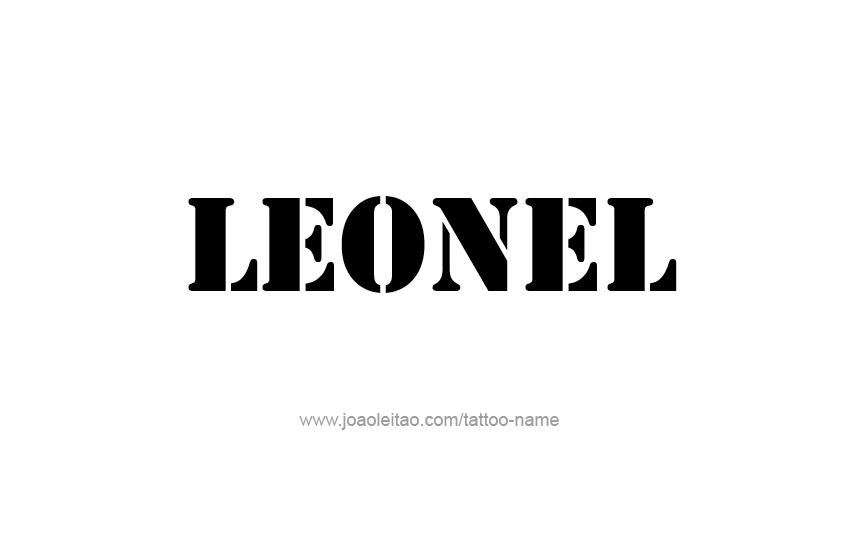 Tattoo Design  Name Leonel
