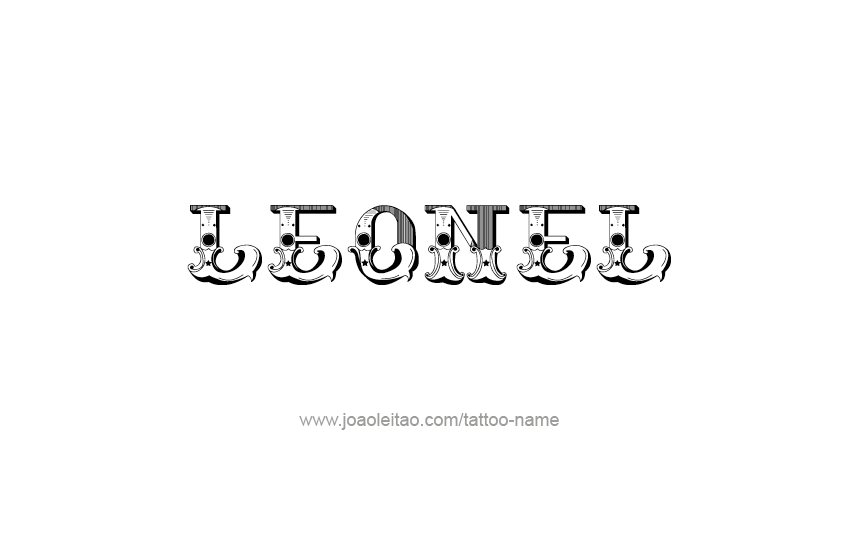 Tattoo Design  Name Leonel