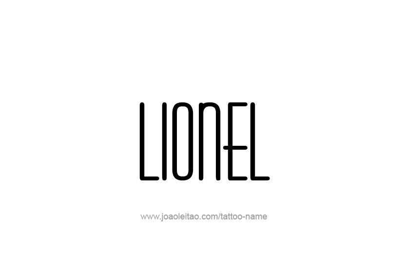 Tattoo Design  Name Lionel