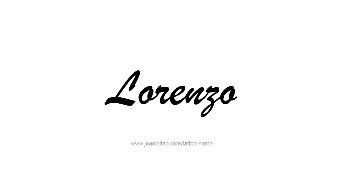 Tattoo Design  Name Lorenzo