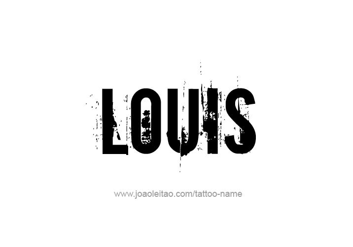 Tattoo Design  Name Louis