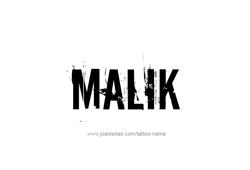 Tattoo Design  Name Malik