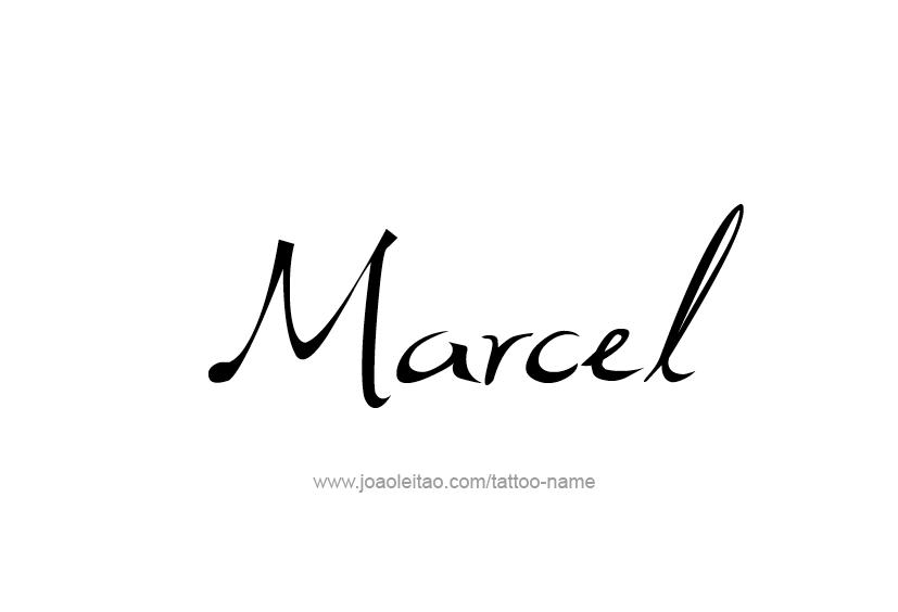 Tattoo Design  Name Marcel
