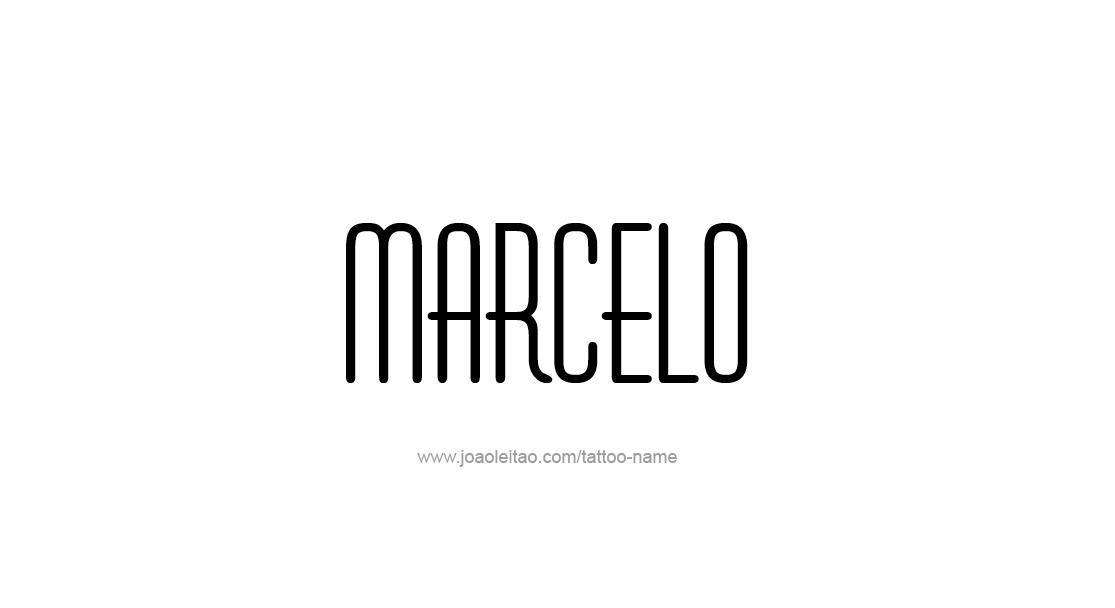 Tattoo Design  Name Marcelo