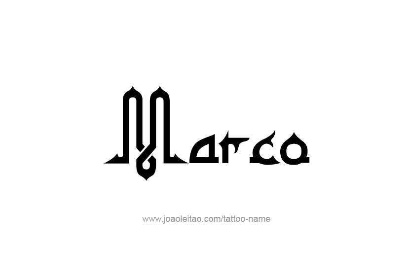 Tattoo Design  Name Marco