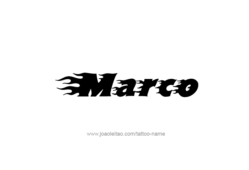 marco name tattoo designs