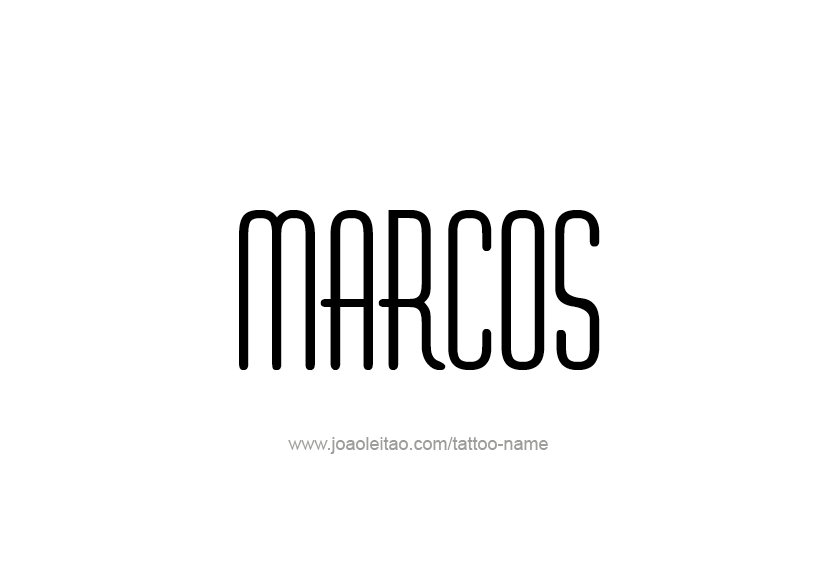 Tattoo Design  Name Marcos