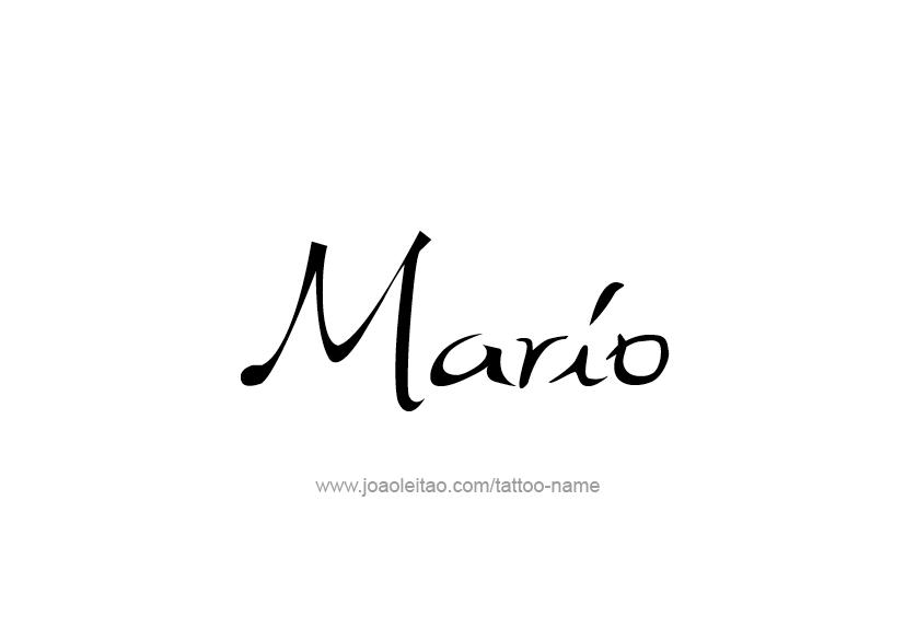 Tattoo Design  Name Mario