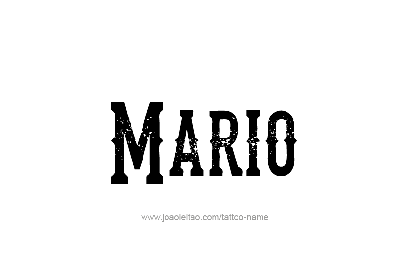 Tattoo Design  Name Mario