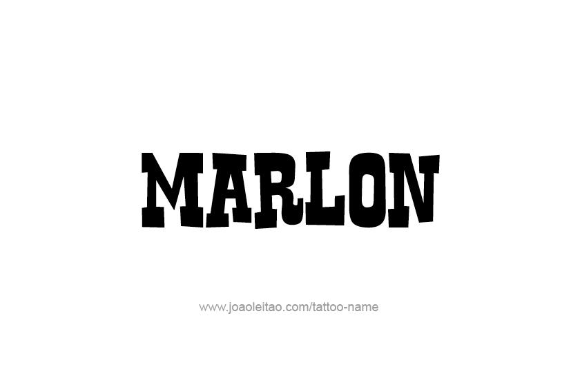 Tattoo Design  Name Marlon