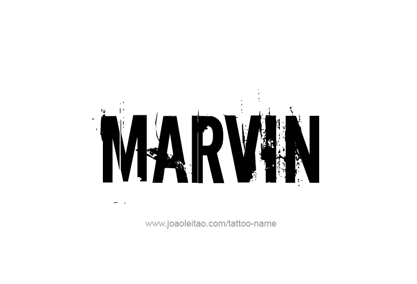 Tattoo Design  Name Marvin