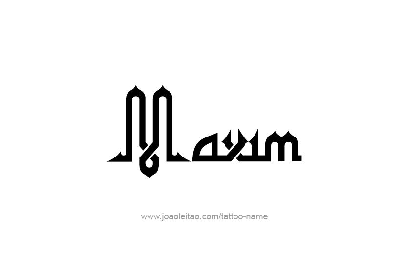 Tattoo Design  Name Maxim