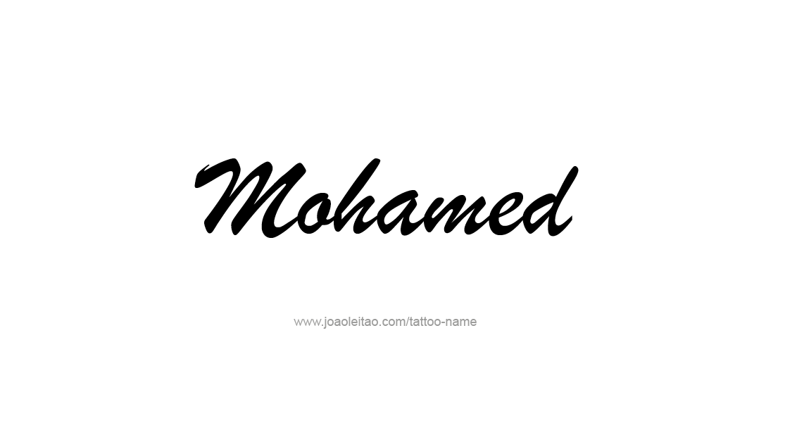 Tattoo Design  Name Mohamed