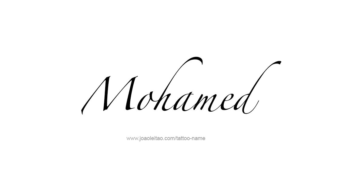 Tattoo Design  Name Mohamed