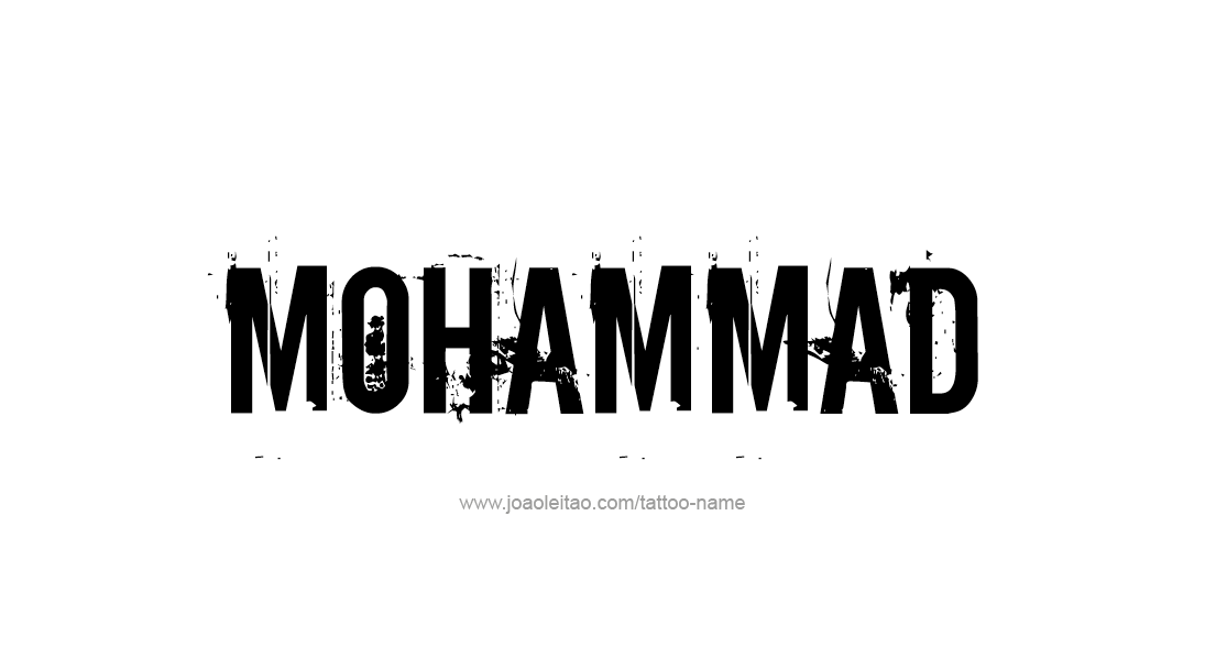 Tattoo Design  Name Mohammad