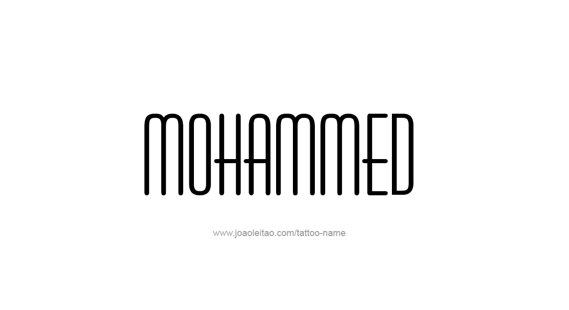 Tattoo Design  Name Mohammed