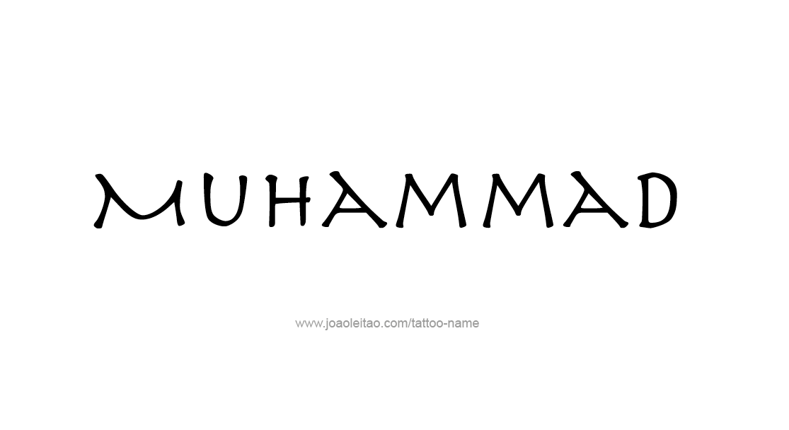 Tattoo Design  Name Muhammad