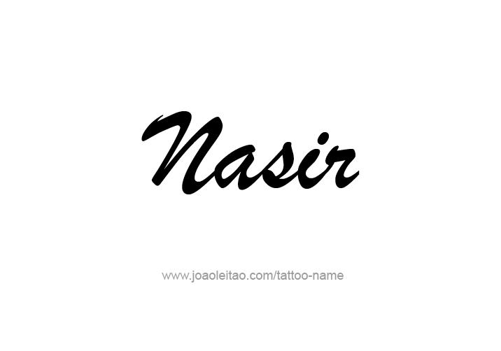 Tattoo Design  Name Nasir