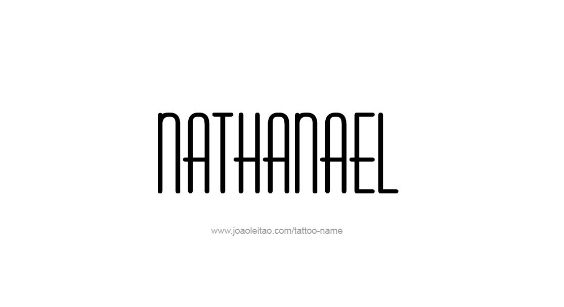 Tattoo Design  Name Nathanael