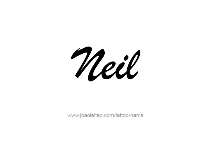 Tattoo Design  Name Neil