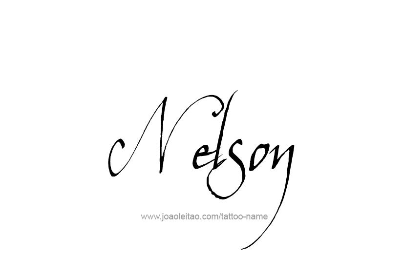Tattoo Design  Name Nelson
