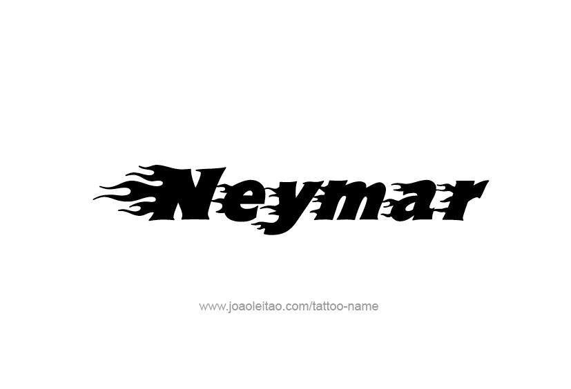 Tattoo Design  Name Neymar