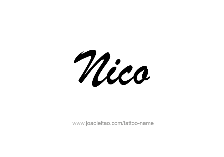 Tattoo Design  Name Nico