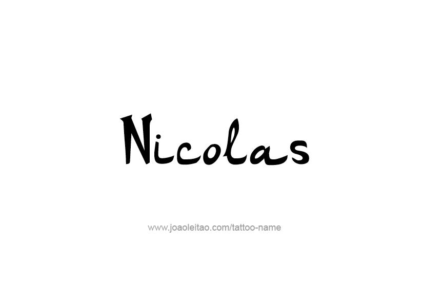 Tattoo Design  Name Nicolas