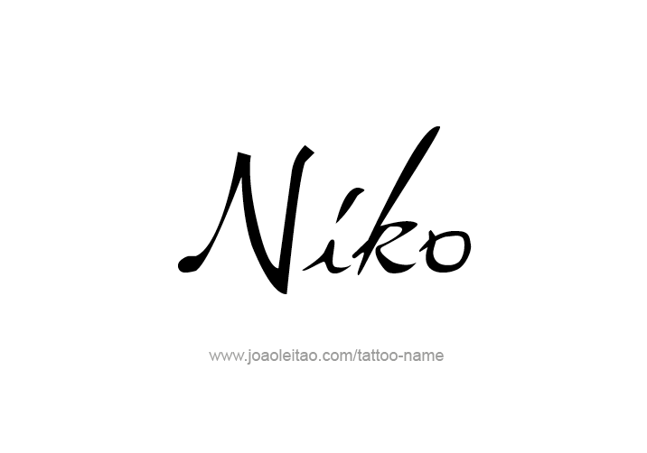 Tattoo Design  Name Niko
