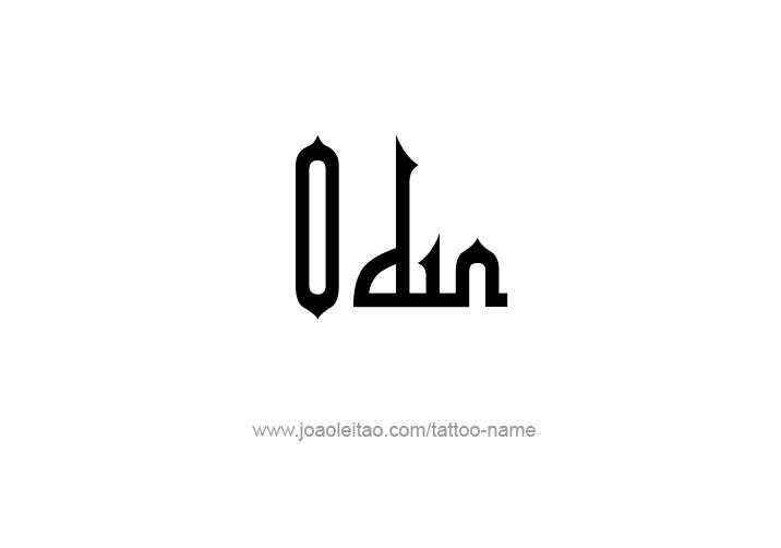 Tattoo Design  Name Odin