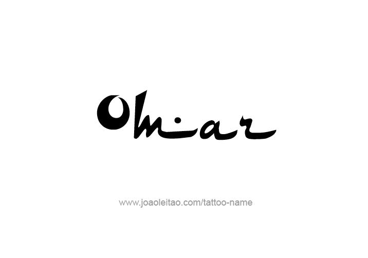Tattoo Design  Name Omar