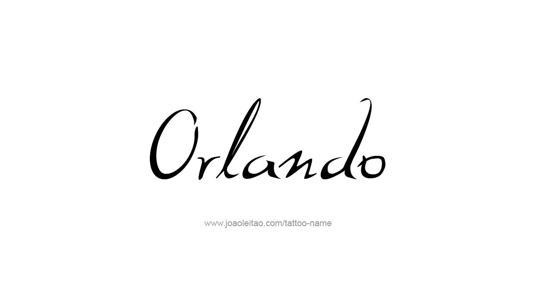 Tattoo Design  Name Orlando