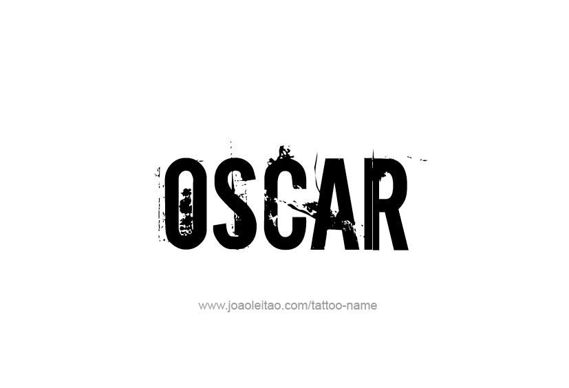 Tattoo Design  Name Oscar