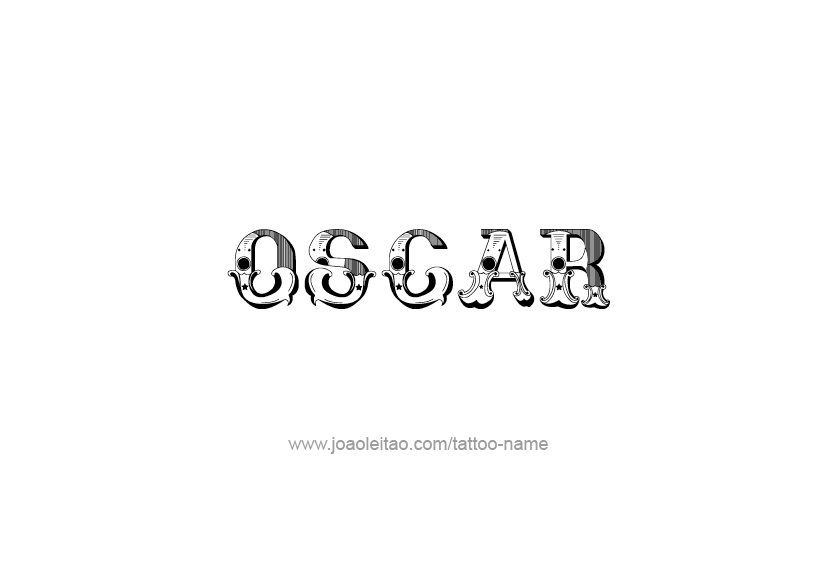 Tattoo Design  Name Oscar