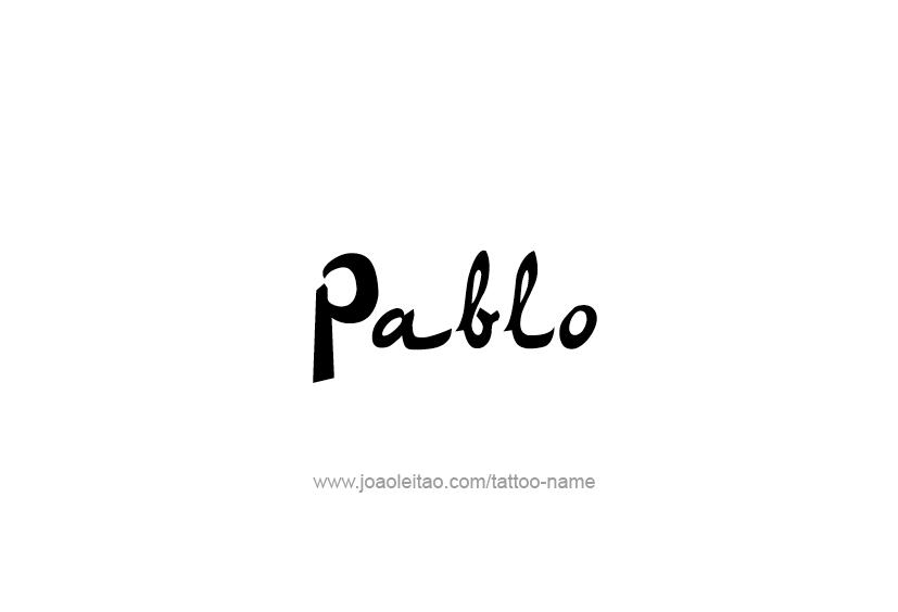 Tattoo Design  Name Pablo