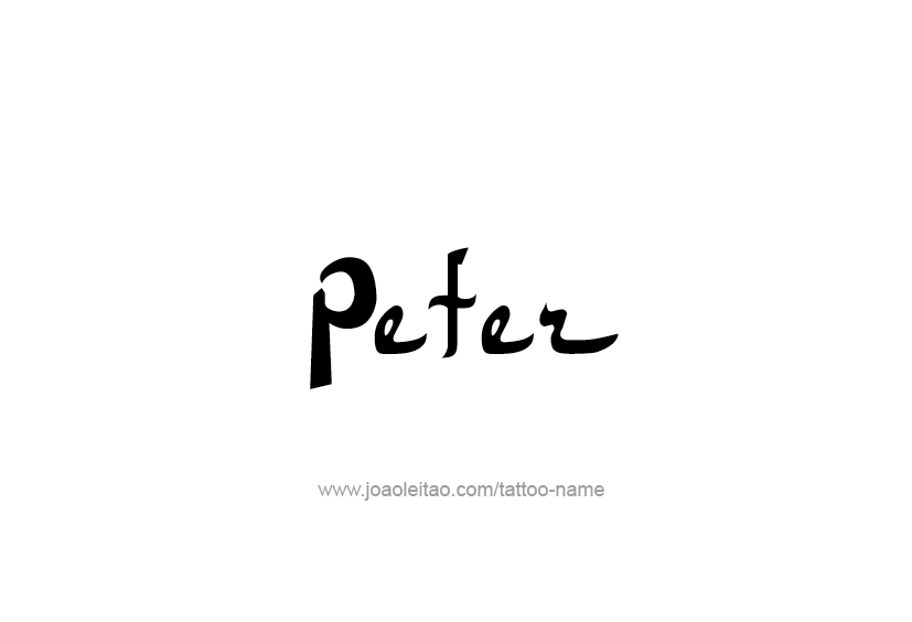 Tattoo Design  Name Peter