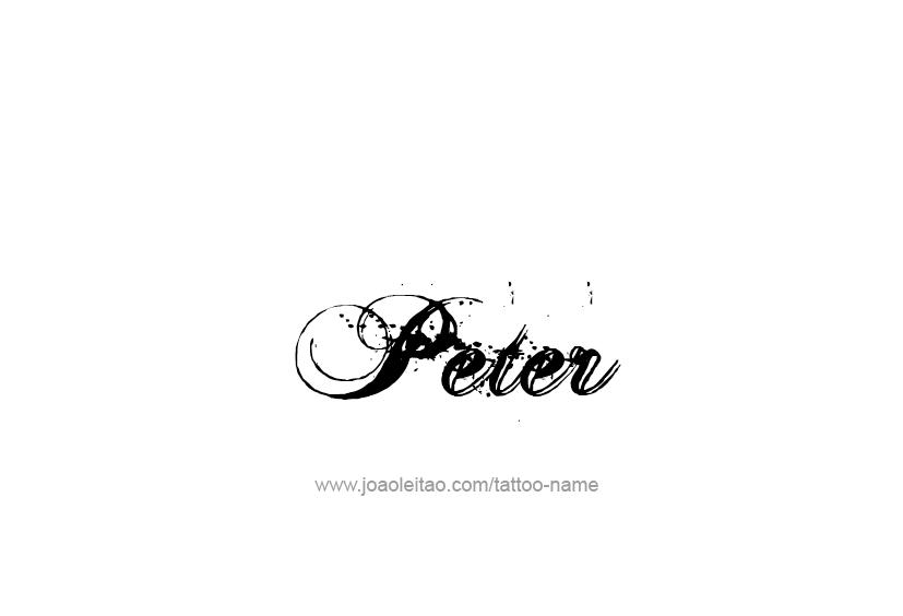 Tattoo Design  Name Peter