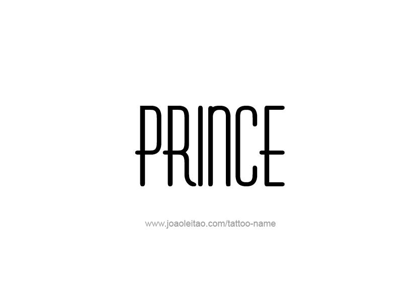 Tattoo Design  Name Prince