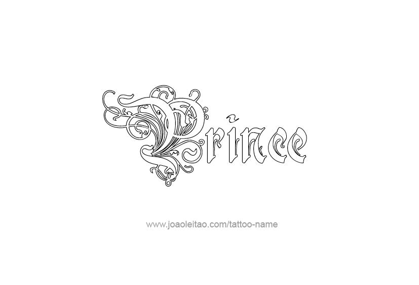 prince name tattoo designs