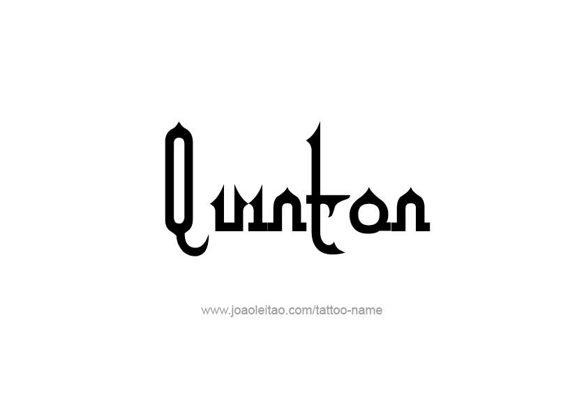 Tattoo Design  Name Quinton