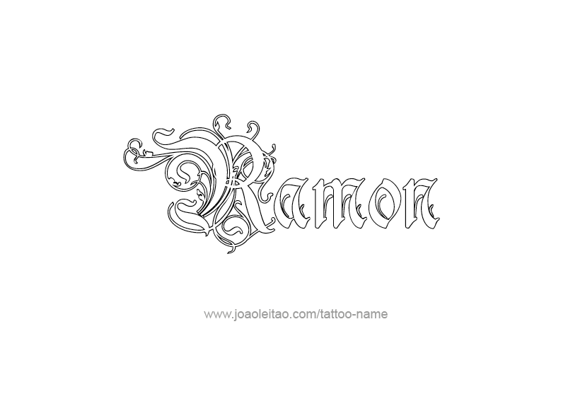 ramon name tattoo designs
