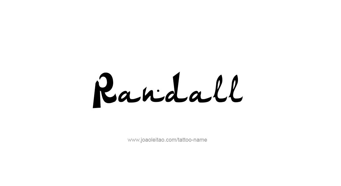 Tattoo Design  Name Randall