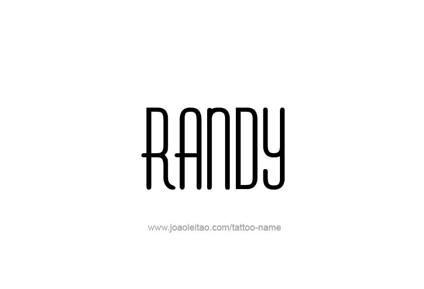 Tattoo Design  Name Randy