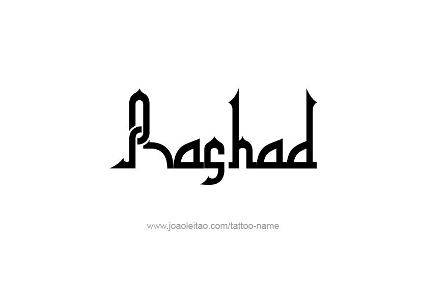 Tattoo Design  Name Rashad