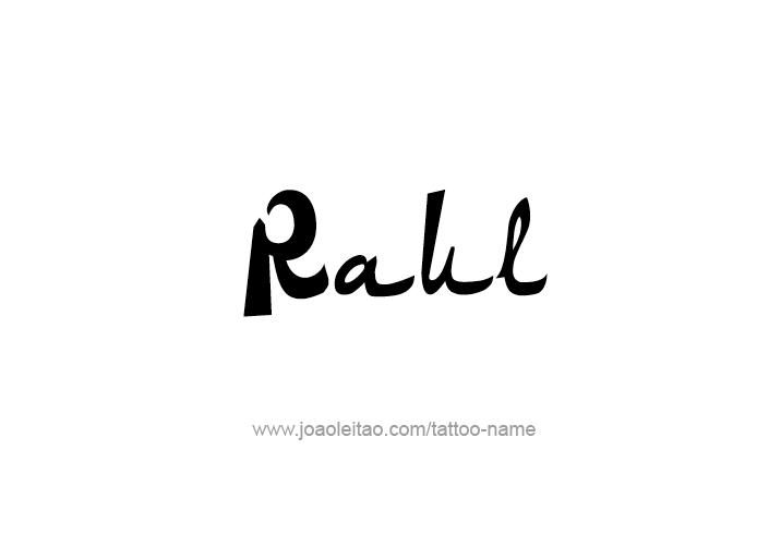 Tattoo Design  Name Raul