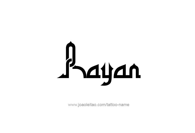 Tattoo Design  Name Rayan