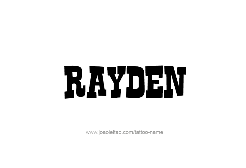 Tattoo Design  Name Rayden